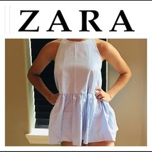 Zara Baby Blue Top